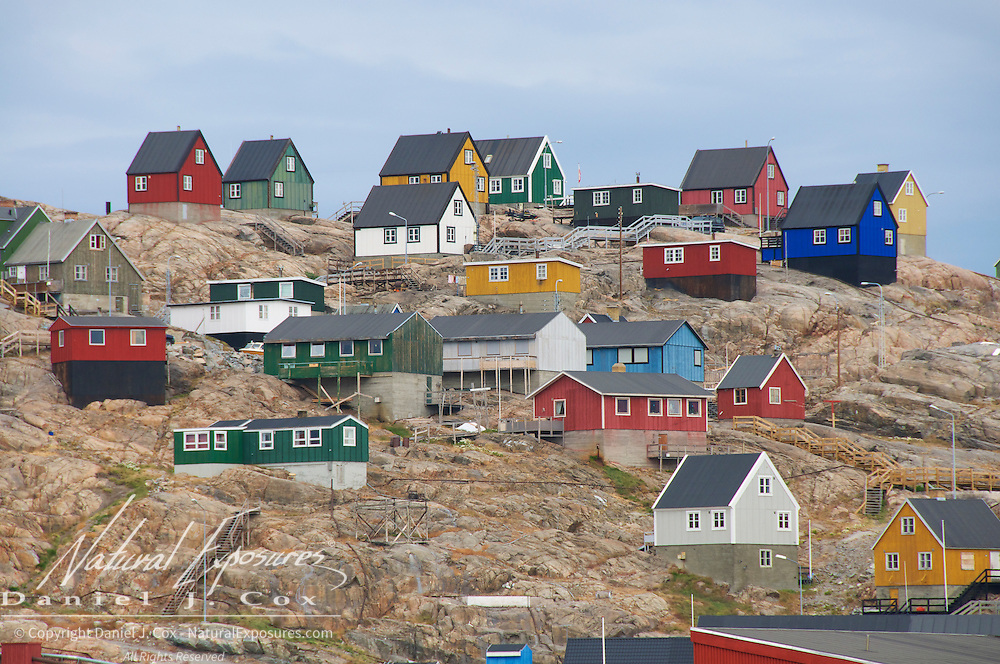 The small fishing village of Uummannaq, Greenland.