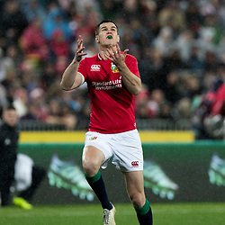 Johnny Sexton  during game 9 of the British and Irish Lions 2017 Tour of New Zealand, the second Test match between  The All Blacks and British and Irish Lions, Westpac Stadium, Wellington, Saturday 1st July 2017<br /> (Photo by Kevin Booth Steve Haag Sports)<br /> <br /> Images for social media must have consent from Steve Haag
