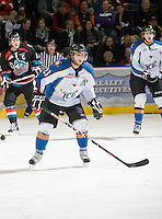 KELOWNA, CANADA, NOVEMBER 25: Max Reinhart #23 of the Kootenay Ice skates on the ice as the Kootenay Ice visit the Kelowna Rockets  on November 25, 2011 at Prospera Place in Kelowna, British Columbia, Canada (Photo by Marissa Baecker/Shoot the Breeze) *** Local Caption *** Max Reinhart;