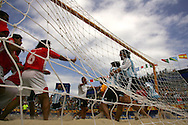 Football-FIFA Beach Soccer World Cup 2006 - Quarter Finals, Argentina - Uruguay, Beachsoccer World Cup 2006.   - Rio de Janeiro - Brazil 09/11/2006. Mandatory credit: FIFA/ Manuel Queimadelos