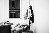 REGGIO CALABRIA (RC) - 7 SETTEMBRE 2018:  Franco Recupero, coordinatore regionale sicurezza ed immigrazione Lega per Salvini Premier, durante un'intervista nella sede della Lega per il Coordinamento per la città metropolitana di Reggio Calabria, a Reggio Calabria il 7 settembre 2018.