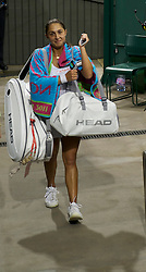 LONDON, ENGLAND - Tuesday, June 28, 2011: Tamira Paszek (AUT) walks off dejected after losing the Ladies' Singles Quarter-Final match on day eight of the Wimbledon Lawn Tennis Championships at the All England Lawn Tennis and Croquet Club. (Pic by David Rawcliffe/Propaganda)