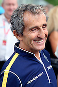 Alain Prost on the grid smiling during round 10, Formula E, Battersea Park, London, United Kingdom on 3 July 2016. Photo by Matthew Redman.