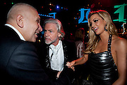 JEAN-PAUL GAULTIER; DR. HERMANN BUELBECKER; ROSANNA DAVIDSON, Grey Goose character and cocktails. The Elton John Aids Foundation Winter Ball. off Nine Elms Lane. London SW8. 30 October 2010. -DO NOT ARCHIVE-© Copyright Photograph by Dafydd Jones. 248 Clapham Rd. London SW9 0PZ. Tel 0207 820 0771. www.dafjones.com.