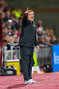 Heart of Midlothian manager Craig Levein shouts from the technical area during the Betfred Scottish Football League Cup quarter final match between Heart of Midlothian FC and Aberdeen FC at Tynecastle Stadium, Edinburgh, Scotland on 25 September 2019.