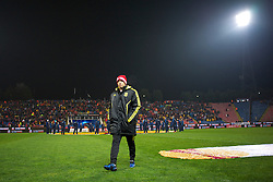 BUCHAREST, ROMANIA - Thursday, December 2, 2010: Liverpool's substitute Lucas Leiva before during the UEFA Europa League Group K match against FC Steaua Bucuresti at the Stadionul Steaua. (Pic by: David Rawcliffe/Propaganda)