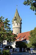 Altstadt von Ravensburg, Grüner Turm, Baden-Württemberg, Deutschland