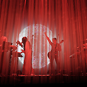 SILVER SPRING, MD - April 30th  2013 -  How To Destroy Angels, the new band from Trent Reznor featuring his wife Mariqueen Maandig, performs at the Fillmore Silver Spring in Silver Spring, MD. The band brought a stadium-sized light show to the club, performing behind a complex system of fiber optic cables that changed color and shape.  (Photo by Kyle Gustafson/For The Washington Post)