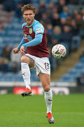 Burnley midfielder Jeff Hendrick (13) during the The FA Cup 3rd round match between Burnley and Barnsley at Turf Moor, Burnley, England on 5 January 2019.