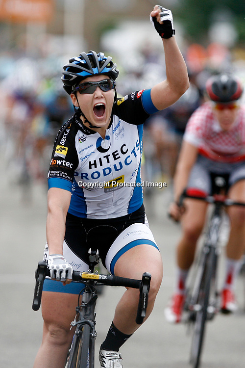 Boels Rental Ladiestour 2013 Zaltbommel-Veen Chloe Hosking (Hitec) wins 5th stage in Veen