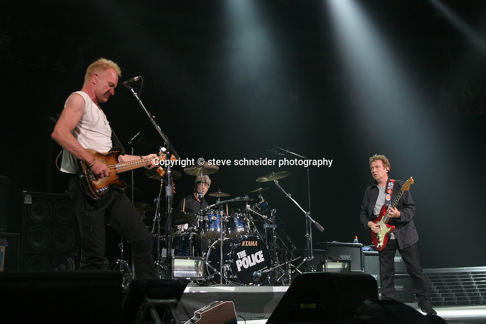 The Police open their 2007 World Tour at The Key Arena in Seattle on 6/6/07.  It was the first time they played in the US since 1983.