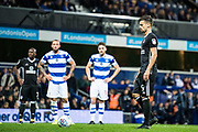 Fulham (9) Rui Fonte take penalty shot  during the EFL Sky Bet Championship match between Queens Park Rangers and Fulham at the Loftus Road Stadium, London, England on 29 September 2017. Photo by Sebastian Frej.