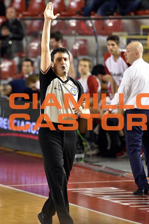 DESCRIZIONE : Roma Lega A 2014-2015 Acea Roma Grissinbon Reggio Emilia<br /> GIOCATORE : arbitro<br /> CATEGORIA : arbitro<br /> SQUADRA : arbitro<br /> EVENTO : Campionato Lega A 2014-2015<br /> GARA : Acea Roma Grissinbon Reggio Emilia<br /> DATA : 16/03/2015<br /> SPORT : Pallacanestro<br /> AUTORE : Agenzia Ciamillo-Castoria/GiulioCiamillo<br /> GALLERIA : Lega Basket A 2014-2015<br /> FOTONOTIZIA : Roma Lega A 2014-2015 Acea Roma Grissinbon Reggio Emilia<br /> PREDEFINITA :