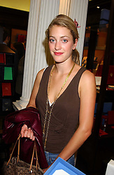 ROSE VAN CUTSEM at a party to celebrate the launch of The Monneypenny Diaries at Smythson, 40 New Bond Street, London W1 on 4th October 2005.<br />
