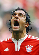 Luca Toni reacts during the game between Bayern Munich and E.Frankfurt.