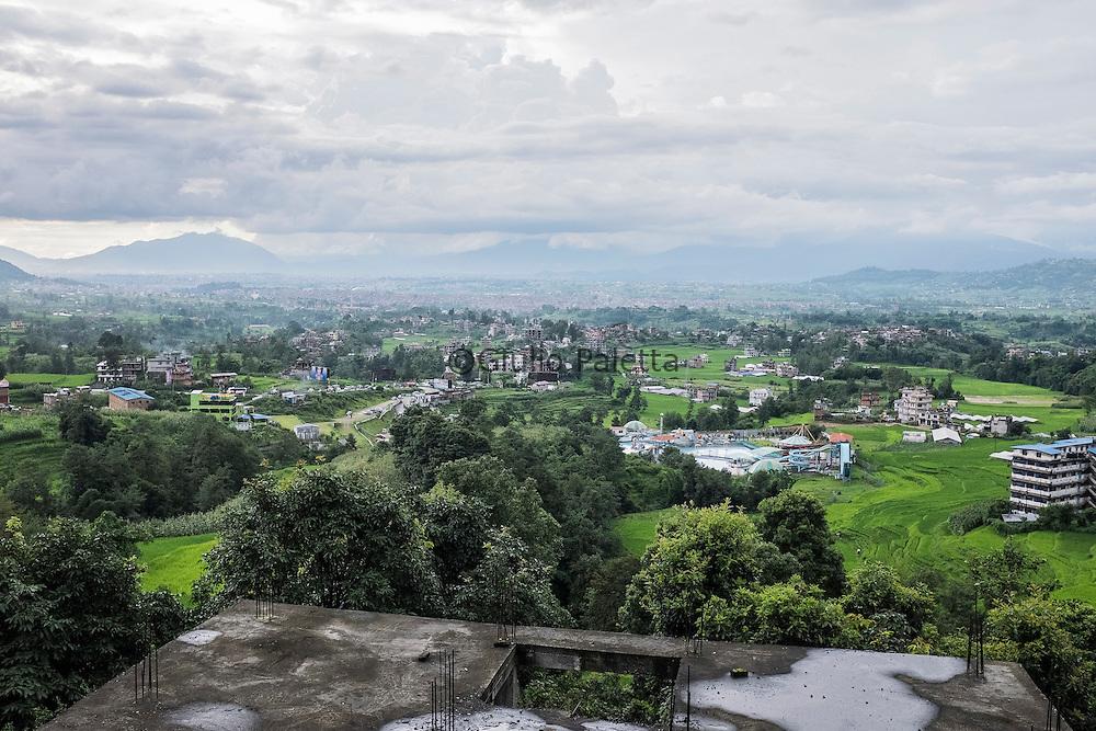 View of the Kathmandu valley, outside Kathmandu, Nepal