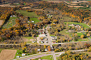 Aerial view of Rock Springs, Wisconsin, in Sauk County's Baraboo Hills.