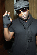 """New York, NY- December 5:  Black Thought of THE ROOTS  backstage at """" ?uestlove  eats…in Concert: A Night of Food and Music """" produced by Jill Newman Productions held at the Blue Note on December 5, 2011 in New York City. Photo Credit: Terrence Jennings"""