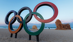 08-02-2018 KOR: Olympic Games day -1, Pyeongchang<br /> Olympic Rings during a preliminary reports ahead of the opening of the Pyeongchang 2018 Winter Olympic Games in Pyeongchang, South Korea on 2018/02/05.<br /> <br /> *** USE NETHERLANDS ONLY ***