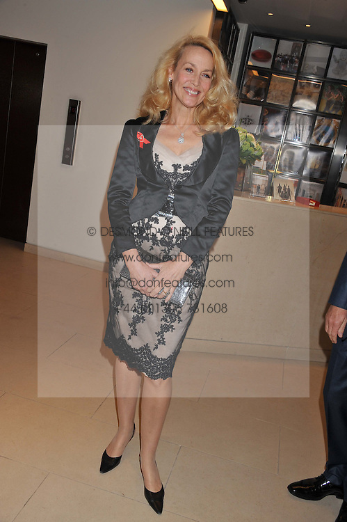 JERRY HALL at the Lighthouse Gala Auction in aid of The Terrence Higgins Trust held at Christie's, 8 King Street, St.James' London on 19th March 2012.