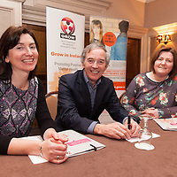 "Caroline Crotty, area coordinator of GROW, John Lonegan, ex governor of Mountjoy prison, and Mary Purcell, area coordinator of GROW, at the launch of ""Mind your Mental Health""  Course by Clare Branch of Grow, the World Community Health Movement in Ireland at Templegate Hotel on Monday night"