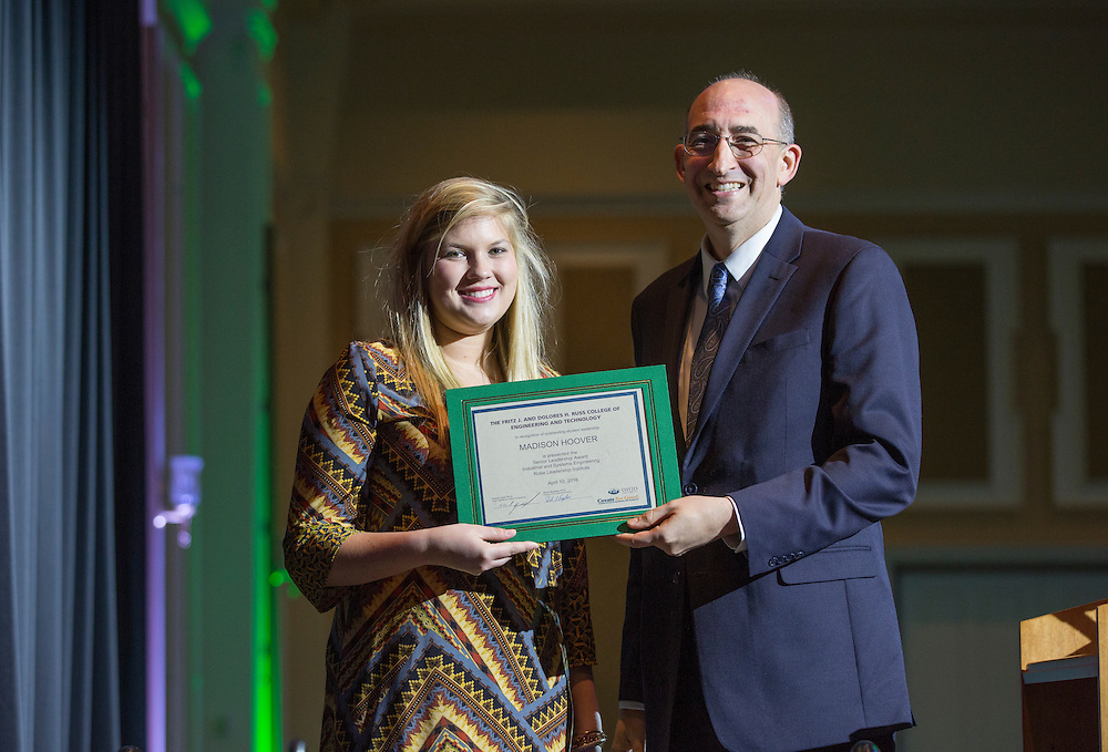 Fritz J. and Dolores H. Russ College of Engineering and Technology Student Awards Banquet April 10, 2016. (Photo by Emily Matthews)