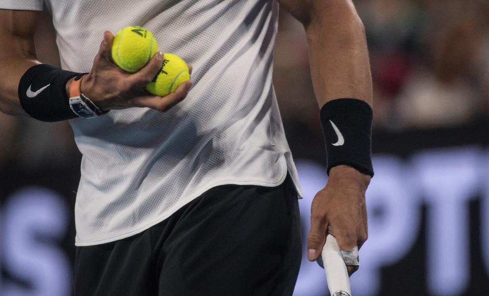 Rafael Nadal of Spain on day ten of the 2017 Australian Open at Melbourne Park on January 25, 2017 in Melbourne, Australia.<br /> (Ben Solomon/Tennis Australia)