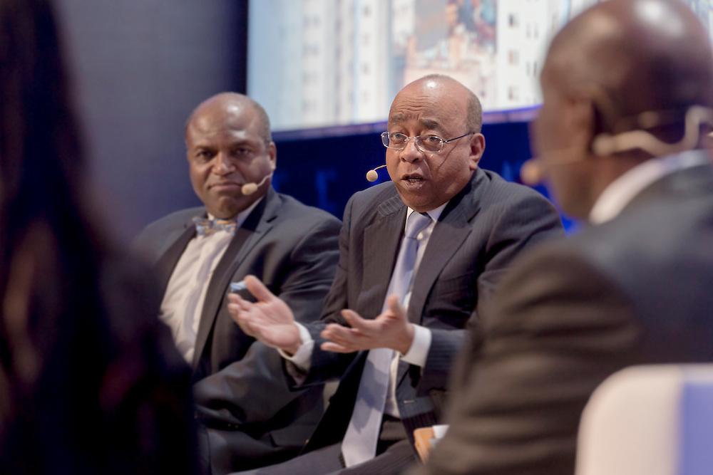 """Mo Ibrahim, Fondation Mo Ibrahim, lors du Panel Performance """"Doing business en Afrique: les clés d'une (nécessaire) révolution"""", 17 mars 2015, Africa CEO Forum 2015."""