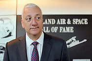 Garden City, NY, USA. June 21, 2018. Former NASA astronaut MIKE MASSIMINO is inducted into Long Island Air & Space Hall of Fame Class of 2018 at Cradle of Aviation Museum.