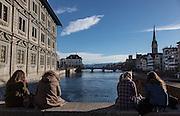 Switzerland, Zurich: Rathausbrücke