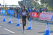 Elizeba Cherono (NED) winner of 2015 Great Birmingham Run comes in second during The Great South Run in Southsea, Portsmouth, United Kingdom on 23 October 2016. Photo by Jon Bromley.
