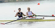 Eton, United Kingdom.  Bow Monica RELPH and Polly SWANN, competing in the Women's Pair  Sat. time trial.  2011 GBRowing Trials, Dorney Lake. Saturday  16/04/2011  [Mandatory Credit; Peter Spurrier/Intersport-images] Venue For 2012 Olympic Regatta and Flat Water Canoe events.