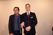 JOHN PAWSON; PRINCE WILLIAM WAXWORK, 'Engagement' exhibition of work by Jennifer Rubell. Stephen Friedman Gallery. London. 7 February 2011. -DO NOT ARCHIVE-© Copyright Photograph by Dafydd Jones. 248 Clapham Rd. London SW9 0PZ. Tel 0207 820 0771. www.dafjones.com.