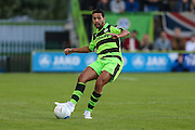 Forest Green Rovers Fabien Robert (26) passes the ball during the Vanarama National League match between Forest Green Rovers and Sutton United at the New Lawn, Forest Green, United Kingdom on 9 August 2016. Photo by Shane Healey.