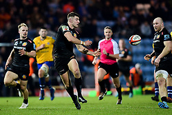 Ollie Devoto of Exeter Braves makes a break - Mandatory by-line: Ryan Hiscott/JMP - 16/12/2019 - RUGBY - Sandy Park - Exeter, England - Exeter Braves v Bath United - Premiership Rugby Shield