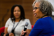 """Gloria Ladson-Billings speaks on the panel """"Education and Children of Color"""" during the Cap Times 2017 Idea Fest, Sunday, September 17, 2017"""