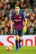 Barcelona midfielder Sergio Busquets (5) during the Champions League semi-final leg 1 of 2 match between Barcelona and Liverpool at Camp Nou, Barcelona, Spain on 1 May 2019.