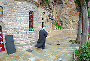 Exterior of a small monastery in the mountains of Northern Greece