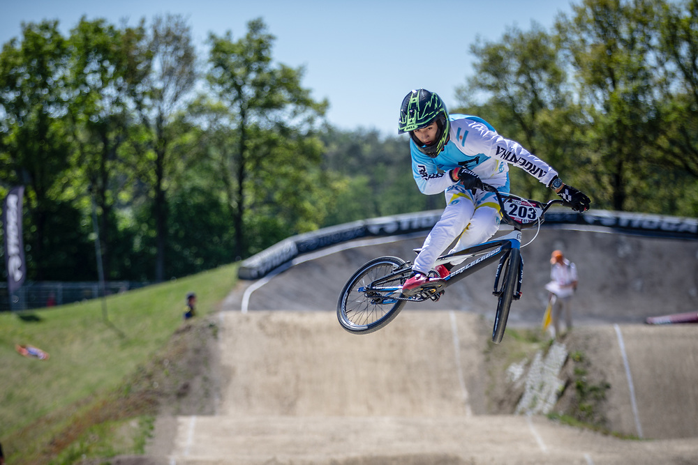 #203 (RAMIREZ David) ARG at Round 4 of the 2018 UCI BMX Superscross World Cup in Papendal, The Netherlands