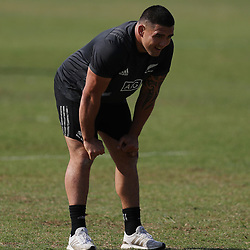 PRETORIA, SOUTH AFRICA - OCTOBER 05: Codie Taylor of the New Zealand (All Blacks) during the Rugby Championship New Zealand All Blacks captain's run at St David's Marist Inanda 36 Rivonia Rd, Sandown, Sandton,on October 5, 2018 in Pretoria, South Africa. (Photo by Steve Haag/Getty Images)