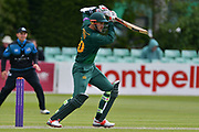 Alex Hales drives off the back foot during the Royal London 1 Day Cup match between Worcestershire County Cricket Club and Nottinghamshire County Cricket Club at New Road, Worcester, United Kingdom on 27 April 2017. Photo by Simon Trafford.
