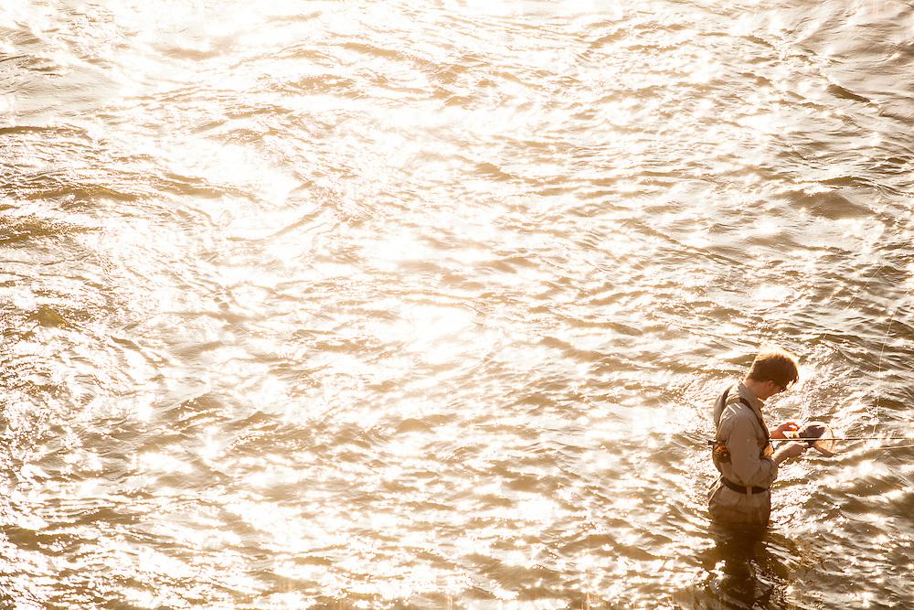 Fly fishing James River. Shad Run. Richmond, VA.