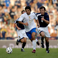 Photo: Jed Wee.<br />Scotland v Italy. FIFA World Cup Qualifying match. <br />03/09/2005.<br /><br />Italy's Gennaro Gattuso returns to Glasgow where he once played for Rangers.