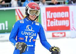 28.12.2017, Hochstein, Lienz, AUT, FIS Weltcup Ski Alpin, Lienz, Slalom, Damen, 2. Lauf, im Bild Irene Curtoni (ITA) // Irene Curtoni of Italy reacts after her 2nd run of ladie's Slalom of FIS ski alpine world cup at the Hochstein in Lienz, Austria on 2017/12/28. EXPA Pictures © 2017, PhotoCredit: EXPA/ Erich Spiess