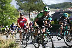 Malgorzata Jasinska (POL) of Cylance Pro Cycling digs deep in the first lap around Halden on Stage 3 of the Ladies Tour of Norway - a 156.6 km road race, between Svinesund (SE) and Halden on August 20, 2017, in Ostfold, Norway. (Photo by Balint Hamvas/Velofocus.com)