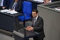 DEU, Deutschland, Germany, Berlin, 13.12.2017: Marco Buschmann, Parlamentarischer Geschäftsführer der FDP-Bundestagsfraktion, bei einer Rede im Deutschen Bundestag.