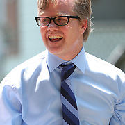 Hall of Fame inductee Freddie Roach arrives in New York during the 23rd Annual Induction citywide parade at the International Boxing Hall of Fame on Sunday, June 10, 2012 in Canastota, NY. (AP Photo/Alex Menendez)