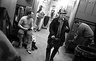MINERS PREPARING TO START WORK, AND FINISHING THEIR SHIFTS, IN THE SHOWER AND CHANGING ROOMS AT LONGANNET COLLIERY, CULROSS. SCOTLAND, APRIL 2001.