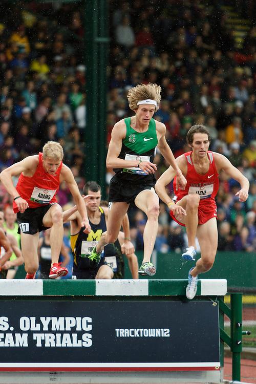Men's Steeplechase, water jump, Evan Jager