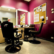 Barcelona Spain. The dressing room of Barcelona Tv.